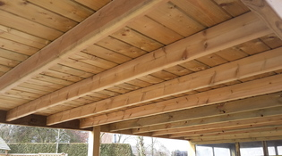 afwerking plafond carport